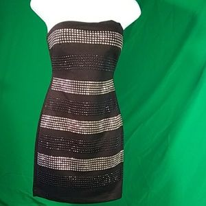 Forever 21 strapless sequin dress S